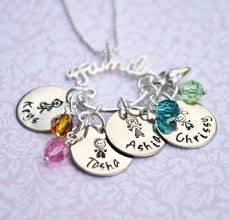 mothers necklace charms personalized family charm holder necklace necklace charm