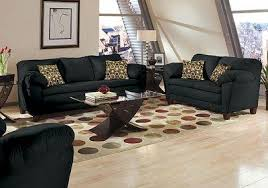 Black Furniture Living Room Black Fabric Transitional Living Room W Soft Arm Pillows