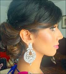 hairdo for boat neckline indian bridal hairstyles the perfect 16 wedding hairdo pics