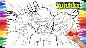 teenage mutant ninja turtles color book tmnt drawing leonardo