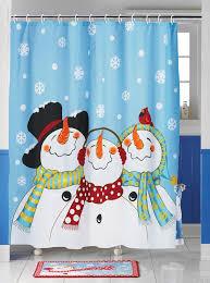 Shower Curtains Ebay Amazon Com Frosty U0026 Friends Snowman Shower Curtain Home U0026 Kitchen