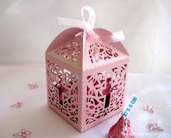 christening party favors 12 pcs holy cross pink pearled party favor boxes for