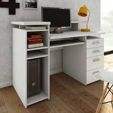 Pc Schreibtisch Buche Pc Schreibtisch Manadoza In Weiß Mit Aufsatz Pharao24 De