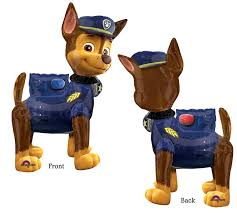 large paw patrol chase dog airwalker balloon delivery helium