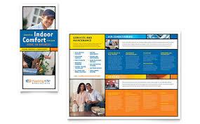 heating u0026 air conditioning brochure template design