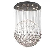Chrome Crystal Chandelier by Exc1750 Excelsior 13 Light Modern Ceiling Light Pendant Crystal