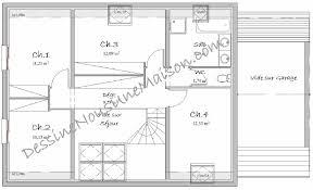 plan maison 4 chambre plan maison 4 chambres 1 etage