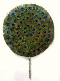 peacock fan for deity worship