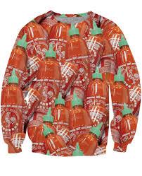 halloween scrubs sriracha crewneck sweatshirt shop jeen powered by hingeto