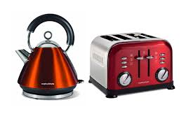 Morphy Richards 2 Slice Toaster Red Morphy Richards Metallic Accents Kettle And Retro 4 Slice Toaster