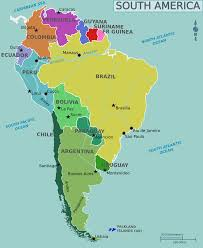 Topographical Map Of South America by Map Of South America U2022 Mapsof Net