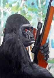 Gorilla Warfare Meme - gorilla warfare funny