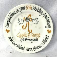 60th anniversary plate wedding anniversary plate for 20th 25th 40th 50th or 60th