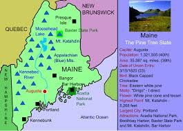 map of maine maine for maps facts activities