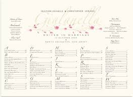 Wedding Seating Chart Template Rose Bud Wedding Seating Chart Garden Themed Vines And Flowers