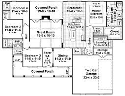 country style house plan 4 beds 2 5 baths plan 21 304 floor