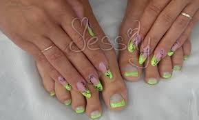photo ongles gel ongle en gel amande russe jaune fluo youtube