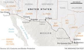 New Mexico Map With Cities And Towns by These Border Towns Could Be First To Get Trump U0027s U0027big Beautiful