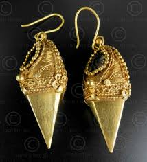 kerala earrings indian gold earrings e214 thrissur formerly trichur area