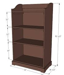 Storage Shelf Wood Plans by Ana White Kids Storage Bookshelf Diy Projects