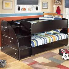 loft style bed twin loft bed with caster bed and left storage steps by signature