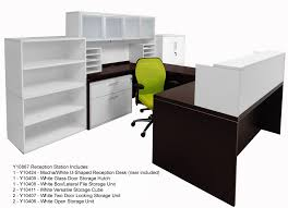 U Shaped Reception Desk U0026 White Structures Reception Station
