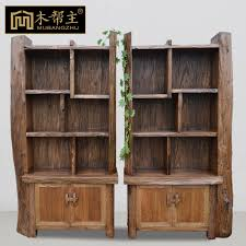 Solid Wood Bookcase Wood Pest Control Backplane With Antique Wood Bookcase Creative