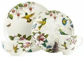 discontinued portmeirion botanic hummingbird dinnerware