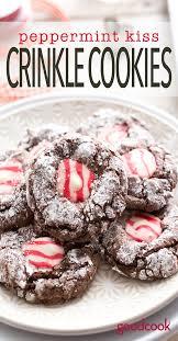 peppermint kiss crinkle cookies good cook good cook