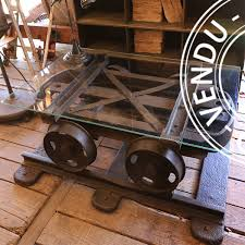 sold an old coal mine cart transformed into a coffee table 1
