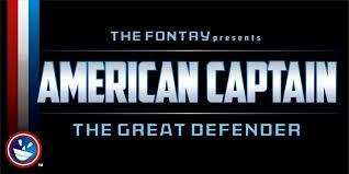 dafont free safe american captain font dafont com
