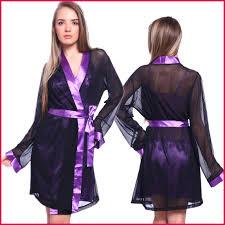 robe de chambre en satin robe de chambre satin femme 247383 2 pcs robe de chambre nuisette