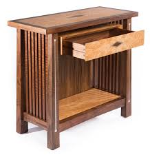 Mission Style Kitchen Cabinet Hardware Stickley Inspired Table With Silver And Copper Inlay Ct Fine