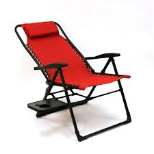 companion sunbrella anti gravity chair with side table in red