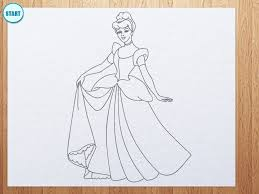 easy pencil drawings of cinderella coloring pages princess