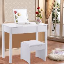 Set Bedroom Furniture Amazon Com Giantex Vanity Dressing Table Set Mirrored Bedroom