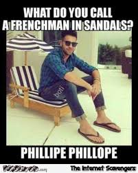 French Meme - what do you call a french man in sandals funny meme pmslweb