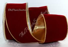 velvet ribbon by the yard wired gold velvet ribbon 2 5 wide by the yard