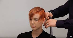 is a pixie haircut cut on the diagonal how to cut style a pixie look from toni guy s freedom collection