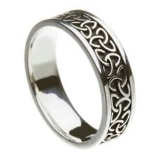 silver band solid knot silver band celtic wedding rings rings from