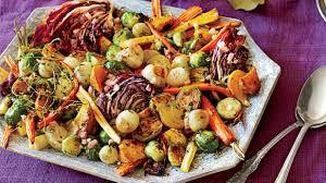 roasted vegetable salad with apple cider vinaigrette spectacular