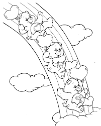 82 printable care bears coloring pages kids carebears