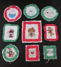 cross stitch ornaments to finish or use as cutters lot of 9