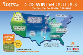weather map of east coast usa farmers almanac 2018 winter weather prediction forecast