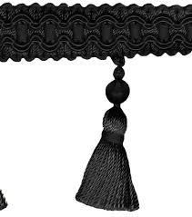 home decor trim signature series 2 5 u0027 u0027 black tassel fringe joann