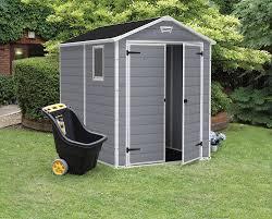 amazon com keter manor large 6 x 8 ft resin outdoor backyard