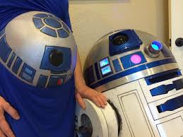 r2d2 halloween costumes r2d2 belly painting behind the scenes a host of things