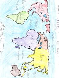 Continents And Oceans Map Nylearns Org Continents And Oceans By St Lawrence Lewis Boces