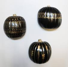 Michaels Crafts Halloween by A Kailo Chic Life Craft It Black And Gold Tribal Pumpkins
