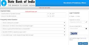 sbi po interview admit card 2017 sbi po interview schedule date